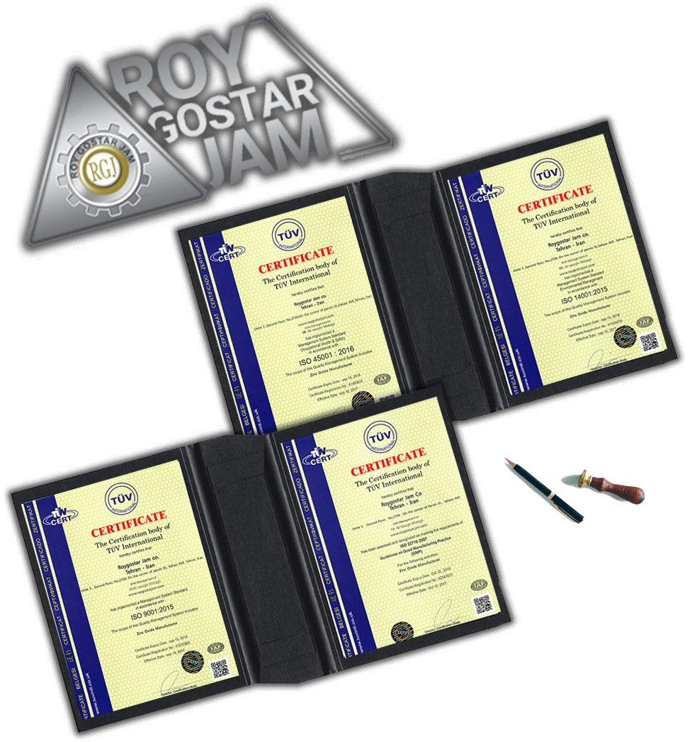 NEW roy gostar jam company certificates