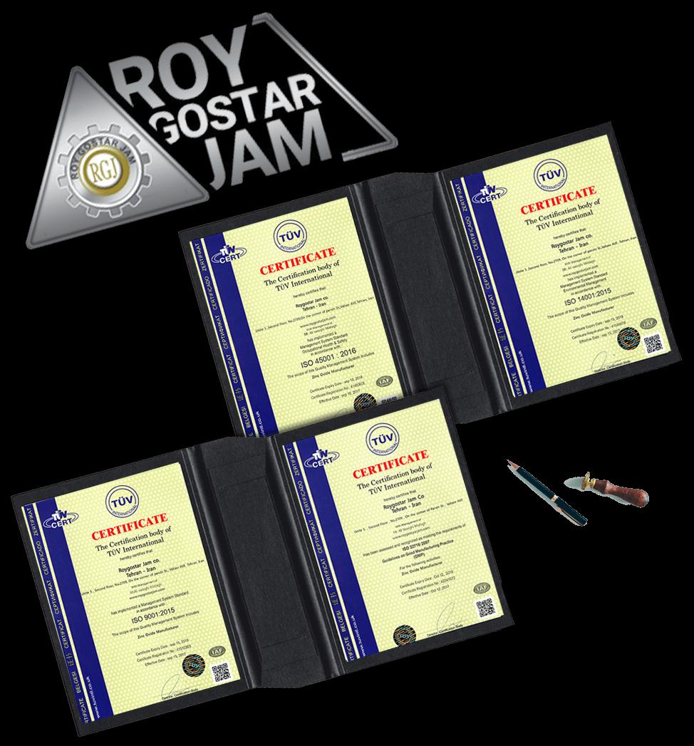 NEW roy gostar jam company certificates